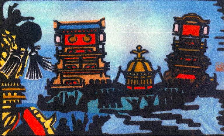 愛媛県西条市の「西条祭り川入り」